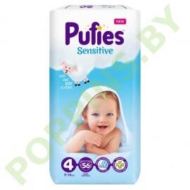 Подгузники Pufies Sensitive 4 (9-14кг) 56шт