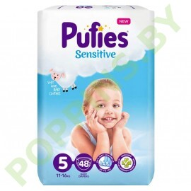 Подгузники  Pufies Sensitive 5 (11-16кг) 48шт