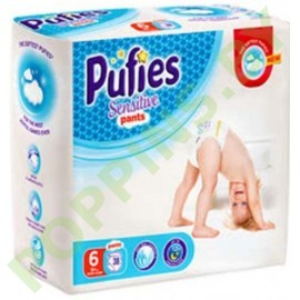 Трусики Pufies Sensitive 6 Extra Large (15+кг) 38шт