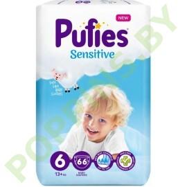 Подгузники Pufies Sensitive 6 (13+кг) 66шт