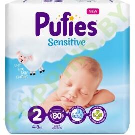 Подгузники Pufies Sensitive 2 (4-8кг) 80шт