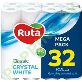 Бумага туалетная Ruta Classic Crystal White 32 рулона
