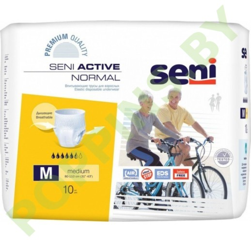 Трусики Seni Active Normal (5,5*) M Medium (80-110см) 10шт