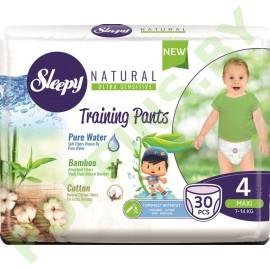 Трусики для детей Sleepy Natural 4 Maxi (7-14кг) 30шт