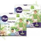 Трусики для детей Sleepy Natural 5 Junior (11-18кг) 24x2=48шт