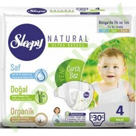 Подгузники для детей Sleepy Natural 4 Maxi  (7-14кг) 30шт