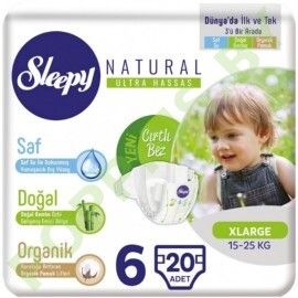 Подгузники для детей Sleepy Natural 6 X Large  (15-25кг) 20шт