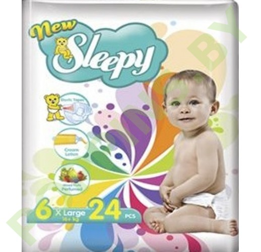 Подгузники Sleepy 6 XLarge (16+кг) 24шт