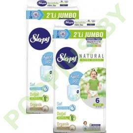 Трусики для детей Sleepy Natural 6 XLarge (15-25кг) 40x2=80шт