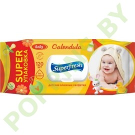 Влажн. салфетки (календула) Superfresh Baby 120шт