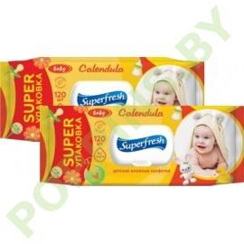 АКЦИЯ Вл.салфетки Superfresh Baby (календула) 2x120шт