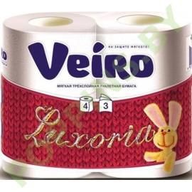 Бумага туалетная Veiro Luxoria (3 слоя)  4рул Белая