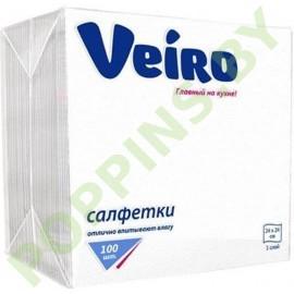 Салфетки бумажные Veiro (белые) 100шт